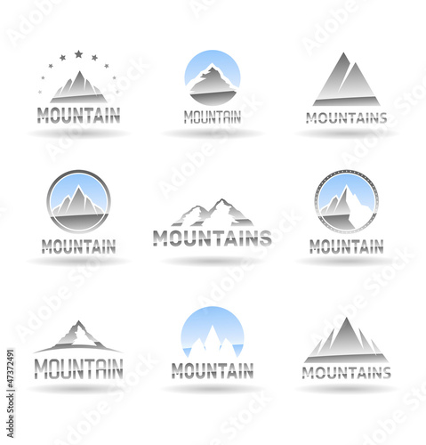 Mountain icons set. Vol 1.