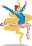 rhythmic gymnastics - free poster