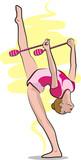 rhythmic gymnastics - clubs poster