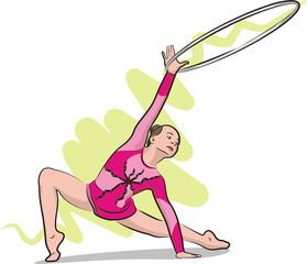 rhythmic gymnastics - hoop