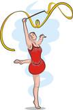 rhythmic gymnastics - ribbon poster