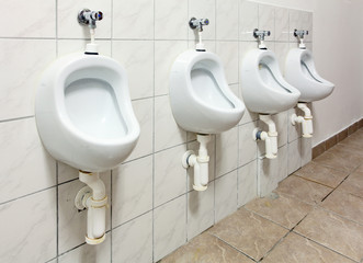 Tree urinal in public toilet