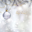 Shiny Christmas background with evening ball