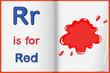 red color splash on a book