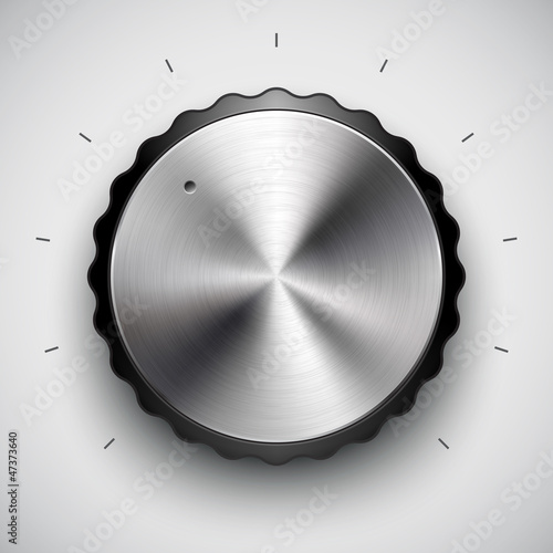 Technology volume button with metal texture for interfaces