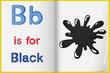 black color splash on a book