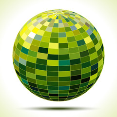 abstract 3d green sphere, vector illustration
