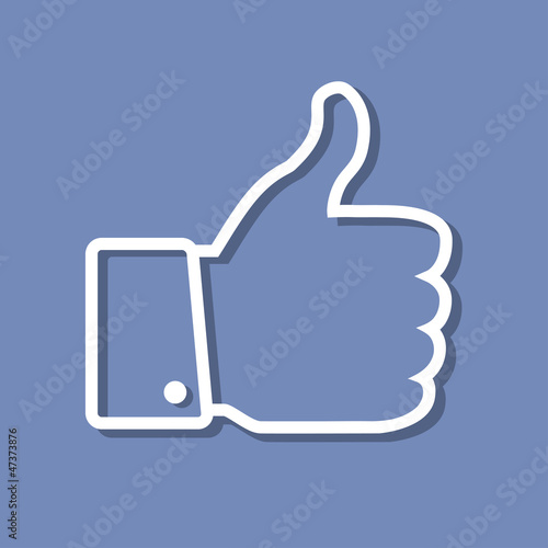 Thumb Up applique, web icon