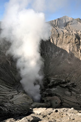 Inside of Bromo crater