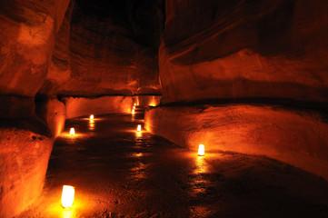 Siq during Petra night walk