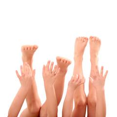 Hände und Füsse freigestellt