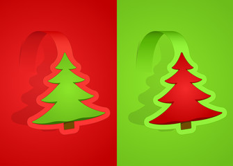 Red and green christmas cards