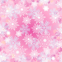 Seamless background with snowflakes_4