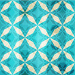 vintage blue mosaic star seamless