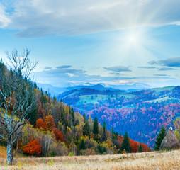 Autumn morning mountain