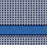 Style Seamless Blue White Color Knitted Vector Pattern