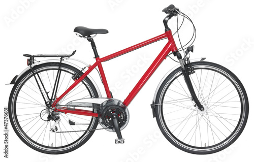 Leinwandbild Motiv Fahrrad Herren rot