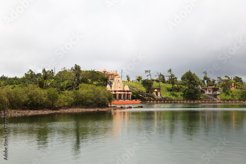 Hindu temple at Grand Bassin lake, Mauritius