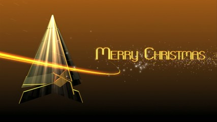 merry christmas template 3d animate