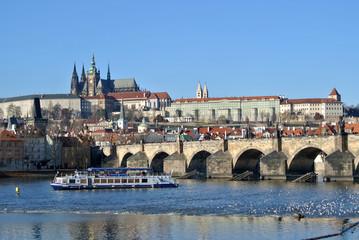Hradschin mit Karlsbrücke