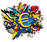 Euro Flag graffiti Economic European Union pop art illustration - 47378600