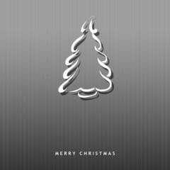 Christmas card with symbolic tree