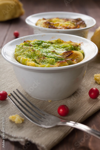 Filled cabbage in bowl