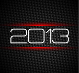 2013 hight tech style new year background poster