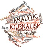 Word cloud for Analytic journalism