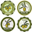 Collection of olive labels