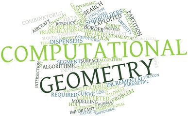 Word cloud for Computational geometry