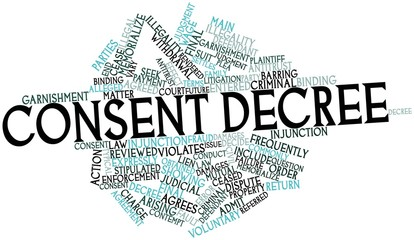 Word cloud for Consent decree