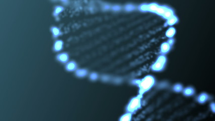 Animated abstract DNA, HD 1080p, loop.