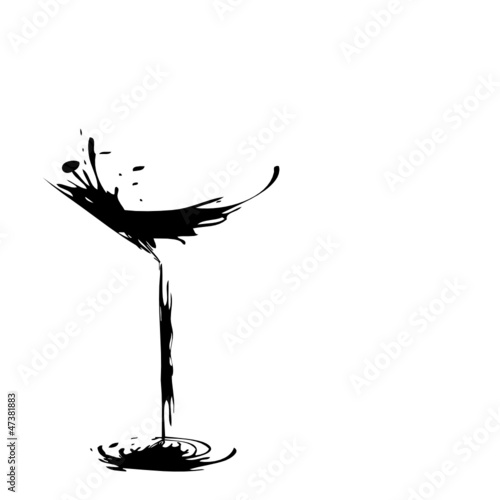 stylized wine glass for fault