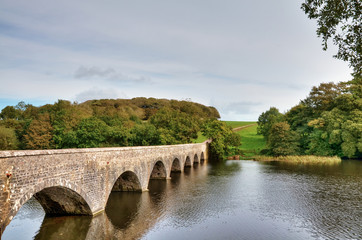 Eight Arch Bridge over Lily Ponds, Bosherston.