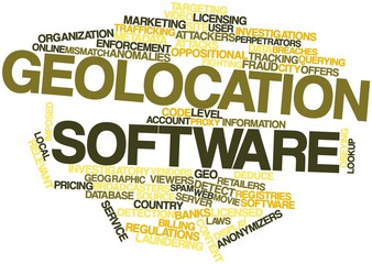 Word cloud for Geolocation software