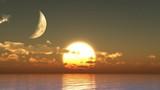 Sunset moon - 47384054