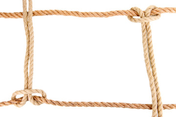 Frame composed of rope isolated on white