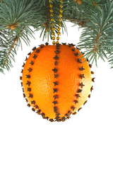 Christmas Toy of oranges and cloves