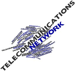 Word cloud for Telecommunications network