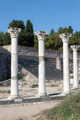 Archaeological site of  Kos Island: Asklepieion, columns