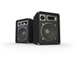 canvas print picture - Loudspeakers