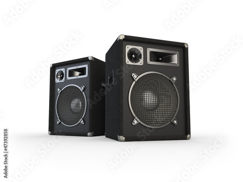 canvas print picture Loudspeakers
