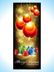 abstract christmas banner with christmas balls`