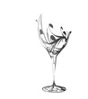 stylized wine glass for fault - 47394233