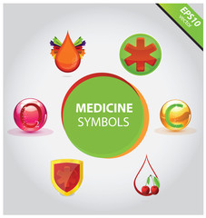 Medical icons and symbols vector set