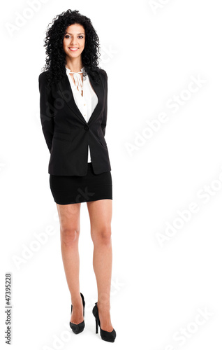 Beautiful businesswoman full length