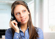 Beautiful customer care representative