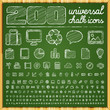 200 Universal Icons In Chalk D...