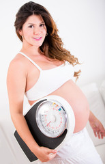 Pregnant woman gaining weight
